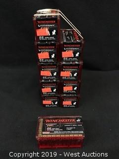 (10) Winchester 22 Win Mag Cartidges