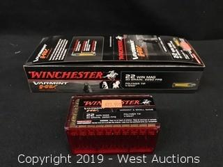 Brick Of (5) Winchester 22 Win Mag Boxes