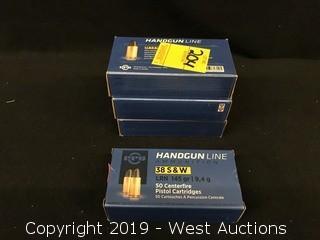 (4) PPU 38 S&W Boxes