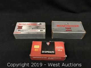 (3) Assorted 38 Super Auto Boxes