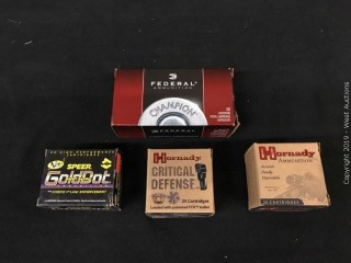 (4) Assorted 357 Magnum HP Boxes