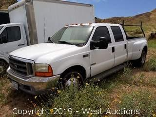 1999 Ford F-350 Powerstroke Turbo Diesel Pickup Truck (Not Running)