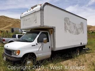 1996 Ford E-450 17' Refrigerator Box Van With Lift Gate (Not Running)