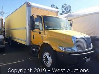 2007 International 4300 DT466 26' Box Truck With Lift Gate (Not Running)