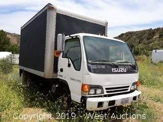 1996 Isuzu NPR 15' Diesel Box Truck With Lift Gate (Not Running)