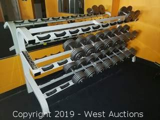 Maxicam 7' Dumbbell Rack And Contents