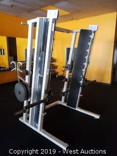 Flex Fitness Squat Rack With Rear Weight Rack