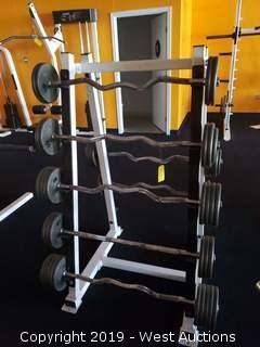 Commercial Weight Rack And Contents