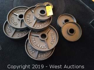 (10) Assorted Weighted Plates