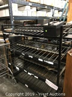 Smaller Metal Shelving Unit- 4 Shelves