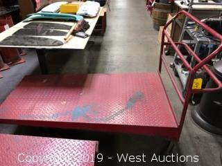 (1) Red Nesting Rolling Cart