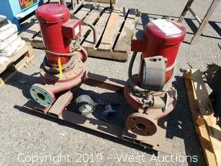 (2) 72 GPM Pumps With (2) 3 H.P. Baldor Motors
