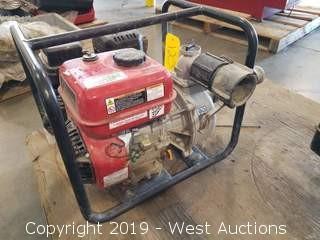 Predator 212cc Gasoline Engine and Attached Pump