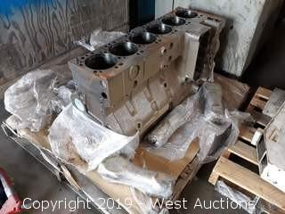 Inline 6 Diesel Engine block with Connecting rods And Crank Shaft