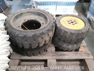(4) Forklift Tires