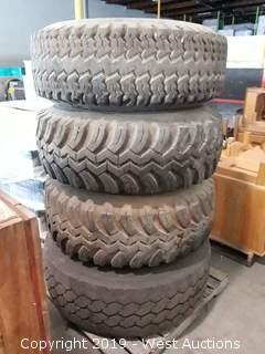 (4) 15-22.5 Tires With Rims