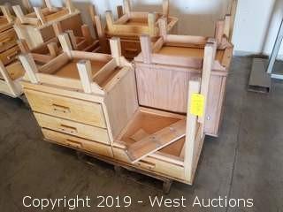(3) Vintage Wooden Desks