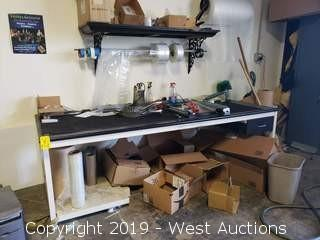 """Packing Table And Contents 8' x 3' x 29""""H"""