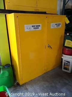 Brady 60296 Flammable Storage Cabinet With Contents