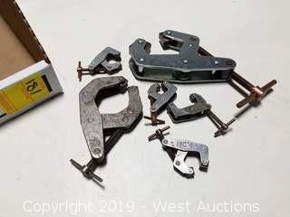 (6) Assorted Size KANT TWIST Clamps