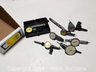 (7) Assorted Size/Style Machinist's Indicators