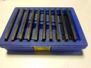 """(10) Assorted Width 6"""" Parallel Pairs in Storage Case"""