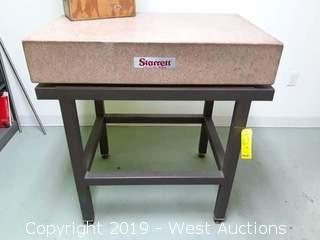 "Starrett 24"" X 36"" Granite Surface Plate With Steel Stand"