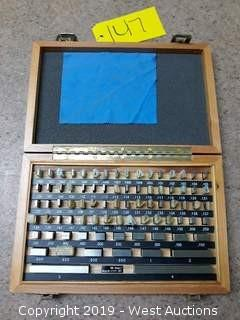 "81 Piece .1000-4"" Gauge Block Set"