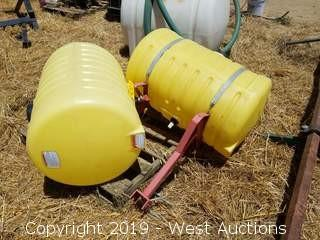 (2) 55-Gallon Chemical Tanks and (1) Set of Mounting Brackets