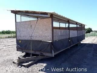 Home-Built 32'x10.25' Steel Construction Trailer Mounted Chicken Coop