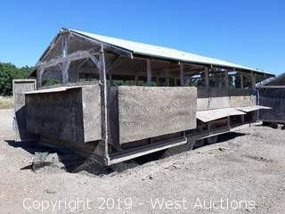 Home-Built 24' X 10' Wood Construction Trailer mounted Chicken Coop