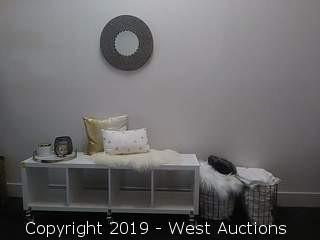 Horizontal Shelf: Pillows, Baskets, Towels, Mirror, Tray Decor & More