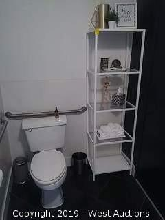 Restroom: All Furniture, Hand Towels, Mirror, Decor & More (Sink & Toilet Not Included)
