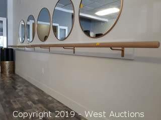 "(2) Dance Equipment Integrational 96"" Ballet Barres"
