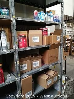 Bulk Lot: Rack of Loctite, ICE, Ester10, Johnsen's Products