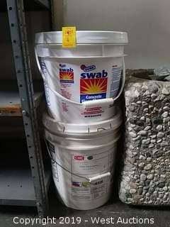 Bulk Lot: (2) Buckets - Super White Grease & Concrete Floor Cleaner