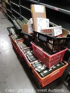 Bulk Lot: (14) Baskets of Various Gaskets in Files Folders