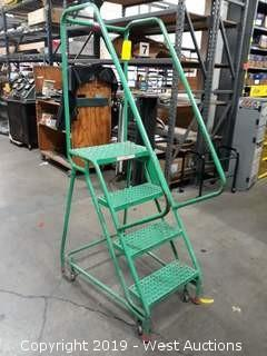 3.25' Rolling Warehouse Ladder