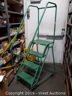 3' Rolling Warehouse Ladder