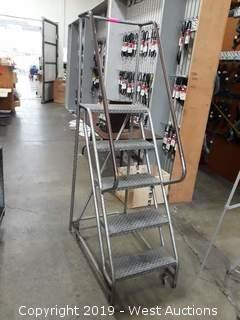 4' Rolling Warehouse Ladder