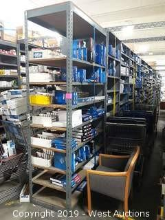 55' (37) Sections Of Product Rack