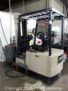 Clark 3500 LB Capacity Electric Forklift With Charger (Needs New Battery)