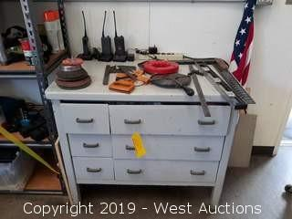 Workbench with 6 Drawers of Tools, Welding Accessories, Painting Supplies and Hardware