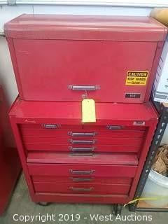 (2) Kennedy Multi Drawer Tool Boxes with contents