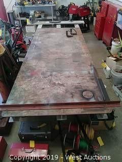 Steel Welding Table with Shop Vises