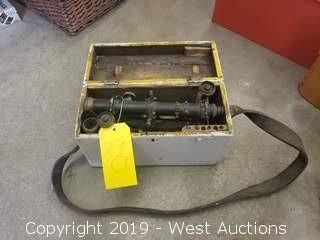 Vintage Keuffel & Esse Survey Scope With Carry Case