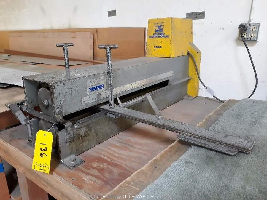 Liquidation of Mio Metals Sheet Metal Fabrication Shop, Propane Forklift, and Ford F-350
