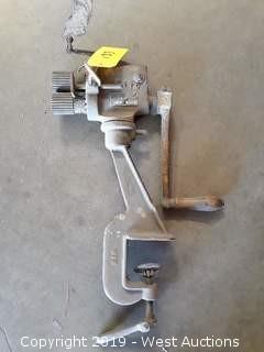 Pexto No. 0581 Bench Mounted Beading/Crimping Machine