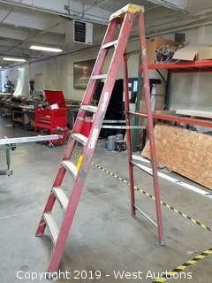 8' Fiberglass Folding Ladder