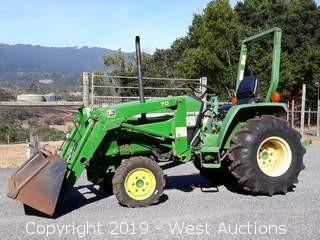 2001 John Deere 790 Compact 4x4 Front Loader Tractor